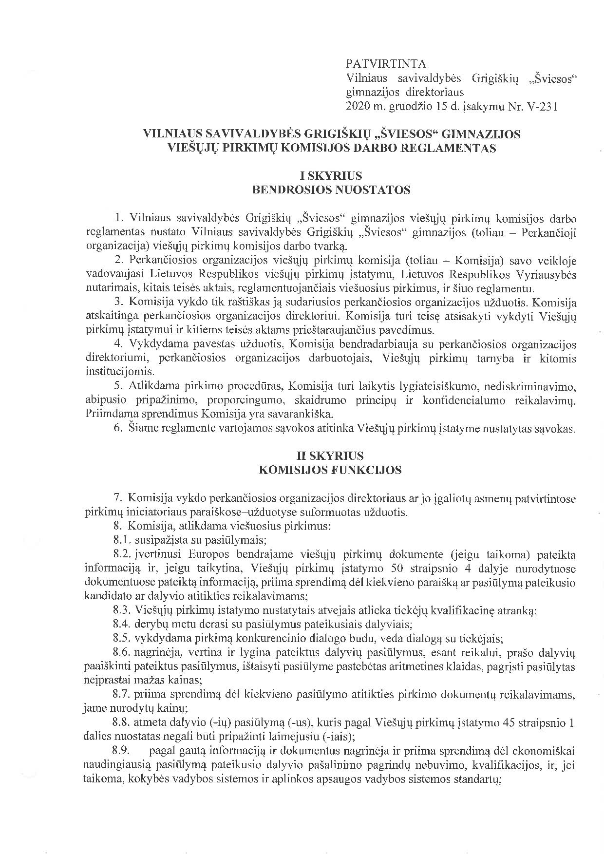 pradžia darbo reglamentai)