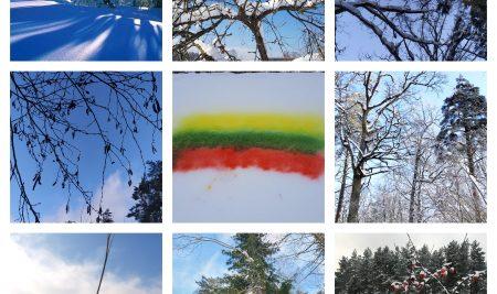 """Pradinių klasių mokinių nuotraukų paroda skirta vasario 16-jai """"Žiema vaikų akimis"""""""
