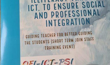 """Erasmus+ programos tarptautinio projekto """"Overcoming functional illiteracy through ICT, to ensure social and professional integration"""", 2020-1-RO01-KA201-080152 mokymosi vizitas Rumunijoje"""