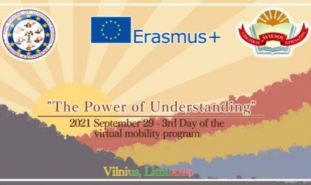 """Erasmus+ projekto """"The Power Of Understanding"""" trečiasis virtualus susitikimas!"""