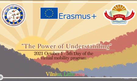 """Erasmus+ projekto """"The Power Of Understanding"""" paskutinis virtualus susitikimas!"""